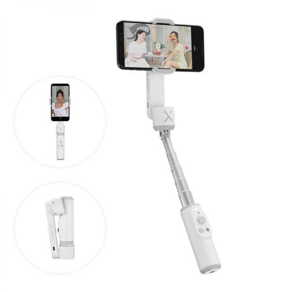 Stabilizzatore smartphone bianco